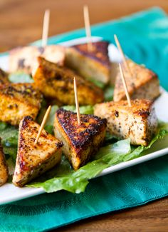 Simple Salt and Pepper Tofu Triangles-I fix this all the time and love it on salad! Try sprinkling with blackened seasoning, spray with non-stick cooking spray, then back in oven till crispy! Really saves on the calories when you skip the frying! Yummmm!