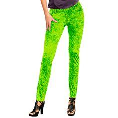 Neon kleding bij warenhuis Trendmax, Neon legging groen,felgroen,felgroene,festival,festivals,foute,green,groen,groene,in,jeans,jeanslegging,jeansleggings