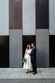 Bride and Groom from an Informal and Cool Central London Wedding. Images by Nick Tucker London Bride, London Wedding, Wedding Photography List, Industrial Wedding Decor, Tea Length Wedding Dress, Wedding Dresses, Emilia Wickstead, Bridesmaids And Groomsmen, Beautiful Couple