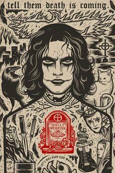 BROTHERTEDD.COM - Iconographic Art Inspired by Pop Culture... Crow Movie, Gothic Wallpaper, Horror Artwork, Crow Art, Halloween Wallpaper Iphone, Crows Ravens, Arte Horror, Freddy Krueger, Dark Art