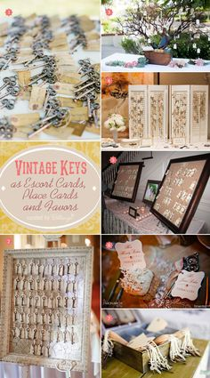 Unlock the possibilities with vintage keys! They're perfect as favors that double up as place cards. See the fab finds at the Wedding Bistro at Bellenza.