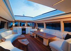 Moon goddess yacht- luxury interior