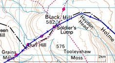 Peak District GPX Route Files Walking Routes, Peak District, Hiking Trails
