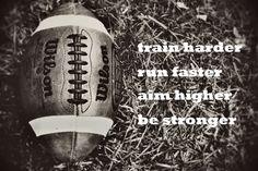 Football Sports Boys room Inspiration Motivation Black & white - 16x20 art print by Dawn Smith. $34.00, via Etsy.