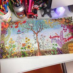Jardin Secreto Inspiracion Secret Garden Book Inspiration Jardim BookSecret Coloring BookJohanna Basford