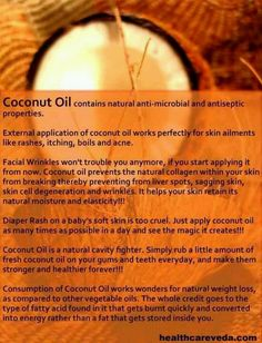 Using coconut oil for anti aging is a natural way to give skin a boost. Discover several easy methods to apply it to fight wrinkles and fine lines. Coconut Oil For Teeth, Coconut Oil Pulling, Natural Coconut Oil, Coconut Oil Hair Mask, Coconut Oil Uses, Benefits Of Coconut Oil, Organic Coconut Oil, Oil Benefits, Health Benefits