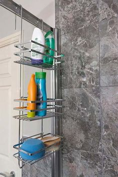 Direct Online Houseware Improved Rust Proof 3 Tier Hanging Shower Caddy Bathroom Organiser In Metalic Silver Bathroom Organisation, Bathroom Storage, Small Bathroom, In Shower Storage, Shower Shelves, Hanging Racks, Hanging Shelves, Shower Rack, Bathroom Organization