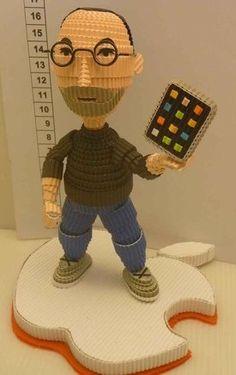 3D Quilling - Steve Jobs