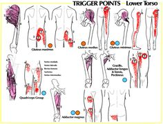 pain relief therapy - trigger points - lower torso - kniepijn