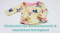 Schnittmuster + Anleitung für ein Kleinkinder Shirt Gr. 56- 92 mit amerikanischem Ausschnitt