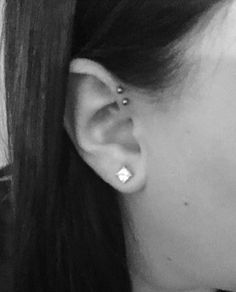 My double forward helix piercing