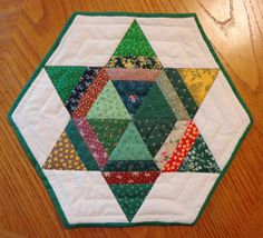 GO GREEN Scrappy Star Candle Mat by CindysQuiltPatch on Etsy, $24.00