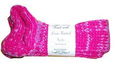 Hand Knit Socks Men's Women's  Handmade Bed Lounge Boot Socks #Socks