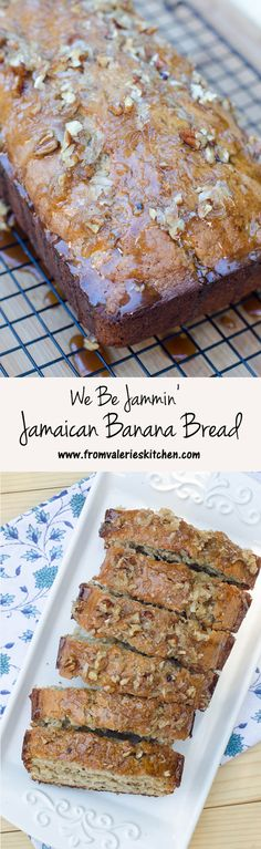 Banana bread with an island twist! The sticky-sweet glaze is AMAZING! ~ http://www.fromvalerieskitchen.com/wordpress