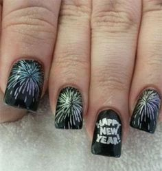 french tip fireworks nails - Google Search
