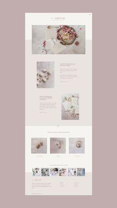 Petit Amour - E-Commerce, Online-Shop, Website-Design, Samt Ehering Box . Website Design Inspiration, Logo Inspiration, Website Design Layout, Web Layout, Layout Design, Wedding Website Design, Minimal Website Design, Modern Website, Website Designs