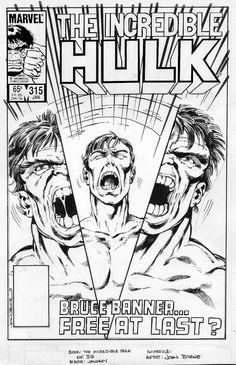 Incredible Hulk #315 cover by John Byrne. 1986.
