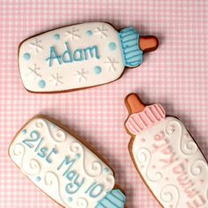 Personalised Babies Bottle cookies