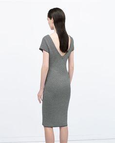 Image 4 of V-BACK JACQUARD DRESS from Zara