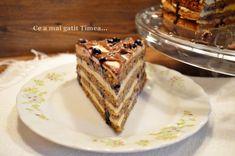 Tort cu nuca crema de vanilie si afine - Retete Timea Romanian Desserts, Tiramisu, Ethnic Recipes, Food, Meal, Essen, Hoods, Tiramisu Cake, Meals