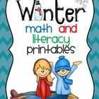 """Math and Literacy Printables Activities Worksheets  This packet includes the following pages:  **Build a """"Long E"""" snow fort (follow the path of lon..."""