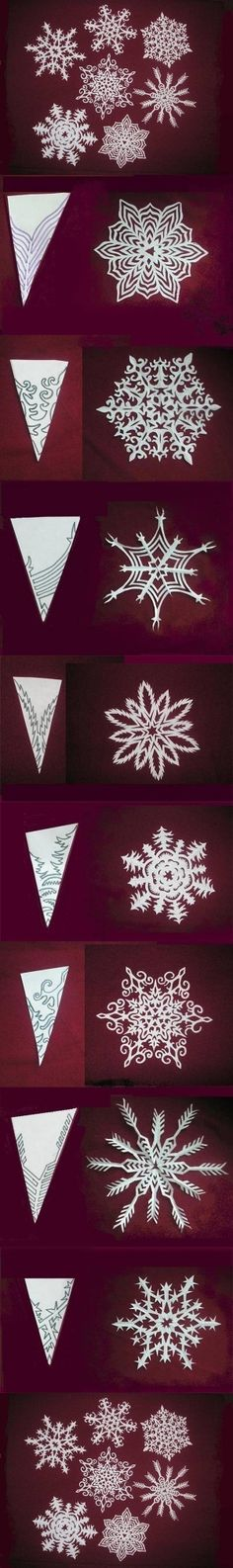 DIY Snowflakes Paper Pattern Tutorial DIY Snowflakes Paper Pattern Tutorial by diyforever