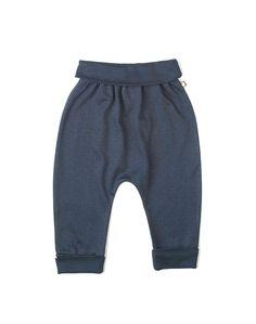 Oeuf Organic Indigo Hammer Pants With Black Polka Dots