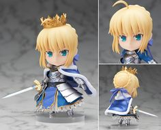 """Cute 4"""" Fate Stay Night Anime Saber Arturia Pendragon Knight King 10cm PVC Action Figure Collection Model Toy Gift #Affiliate"""