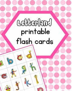 Letterland character flash cards. Cards with the normal letters are also included and can be printed on the back of the character.I wanted the normal letters' font to be as close to the letterland letter shapes as possible as the shapes of t's, q's and y's differ incredibly from font to font and I wanted consistency. #letterland #flashcards
