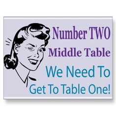 """This is a three set series. Funny and delightful table cards to add to your Bunco gear! Middle table number two - """"We Need To Get To Table One"""" Bunco Game, Bunco Party, Bunco Prizes, Party Fun, Bunco Themes, Bunco Ideas, Party Ideas, Gift Ideas, Activity Games"""