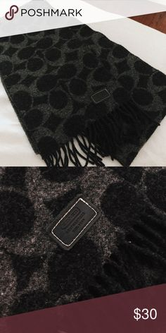 63a26a35f33e Black   Gray Coach Scarf Black   Dark Gray Coach Scarf. Perfect condition