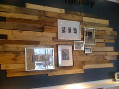 reclaimed wood wall behind your TV