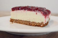 White chocolate and vanilla raspberry cheesecake
