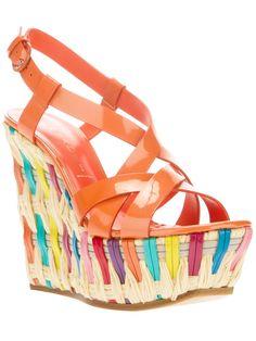 9c7d9b39970 Casadei Melon Patent Leather Platform Wedge Sandal Spring Summer 2013   Shoes  Wedges