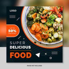 Social media banner template for restaurant food Premium Psd Food Graphic Design, Food Poster Design, Typography Poster Design, Web Design, Food Design, Social Media Poster, Social Media Branding, Social Media Banner, Social Media Design