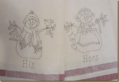 free patterns - his/hers snow people