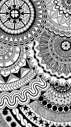 Made by Samsung Doodle Art Drawing, Zentangle Drawings, Zen Doodle, Zentangles, Art Drawings, Mandala Art Lesson, Mandala Artwork, Doodle Patterns, Zentangle Patterns