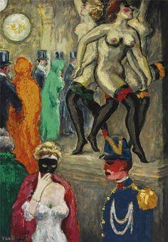 lingerieinart:  Kees van Dongen, La danse de Carpeaux (Le bal masque' a l'Opera), oil on canvas, ca.1904  Kees van Dongen (NL 1877-1968 Mon)