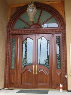 15 Exterior Door Ideas to Add Values to Your Home - If you want to give a fresh new look to your house, changing or revamping your exterior door is one of the alternatives you can try. The exterior door. Main Entrance Door Design, Wooden Front Door Design, Double Door Design, Door Gate Design, Door Design Interior, The Doors, Entry Doors, Wooden Double Doors, Door Design Images