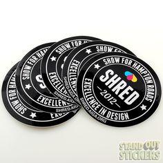 Custom Round Stickers - StandOut Stickers
