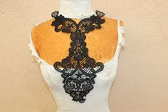 Cute  venice applique yoke black color   1  pieces by paviapavia, $3.95