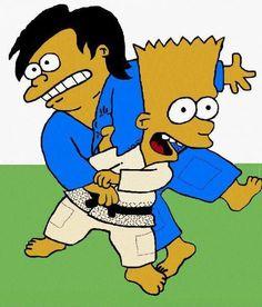 Bart Simpson Judo (looks like Morote seoi nage)