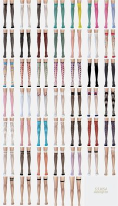 Over knee socks collection transparent at Marigold