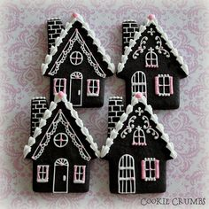 winter cottage cookies
