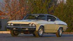 1969 Chevrolet Yenko Chevelle L72 427/425 HP, 4-Speed - 1 of 99 1969 COPO 9562 Yenko Chevelles Produced  - MQ-suffix special high-performance L72 427/425 HP  - M21 close-ratio 4-speed Muncie transmission  - Heavy-Duty 4.10 12 bolt rear differential  - KQ-coded heavy duty suspension  - Power front disc brakes  - 15x7-inch rally wheels  - Black Strato bucket seats  - 1 of 16 painted Butternut Yellow