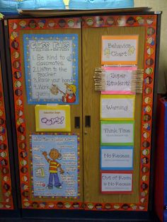 """Behavior chart. I love the """"oops"""" folder that has the kids fill out why they misbehaved."""
