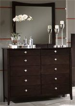 Home Furnishings - Espresso Tall Dresser with Pewter Accents by Hillsdale Furniture | KitchenSource.com