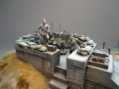 Atlantic Wall Military Diorama, Military Art, Bunker, Tilt Shift Photography, D Day Normandy, Military Action Figures, Diorama Ideas, Wargaming Terrain, Real Model