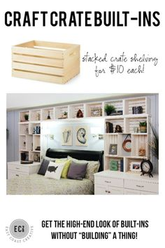 DIY Built in shelves
