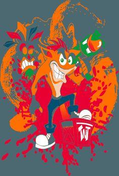 Crash Bandicoot T-shirt Qwertee